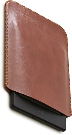 V.M kindle / Paperwhite / Voyage / Oasis スリーブ ケース レザー [高品質高性能] 軽 薄 皮 革 キンドル オアシス スリーブケース 純正 スリップイン スリップ カバー キンドルオアシス スリップインケース Oasisケース ダーク ブラウン KindleOasis 濃茶