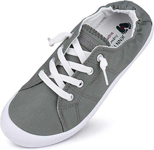 JENN ARDOR Canvas Sneakers Shoes for Women Low Tops Slip On Sneakers Casual Shoes Comfortable