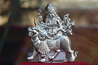 Msa Jewels Pure Silver Durga Mata Idol Photoframe
