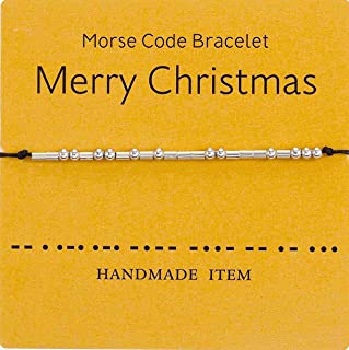 Morse Code Bracelet Beads Secret Message Gift Jewelry Weave Friend Family Couple Bracelets For Her