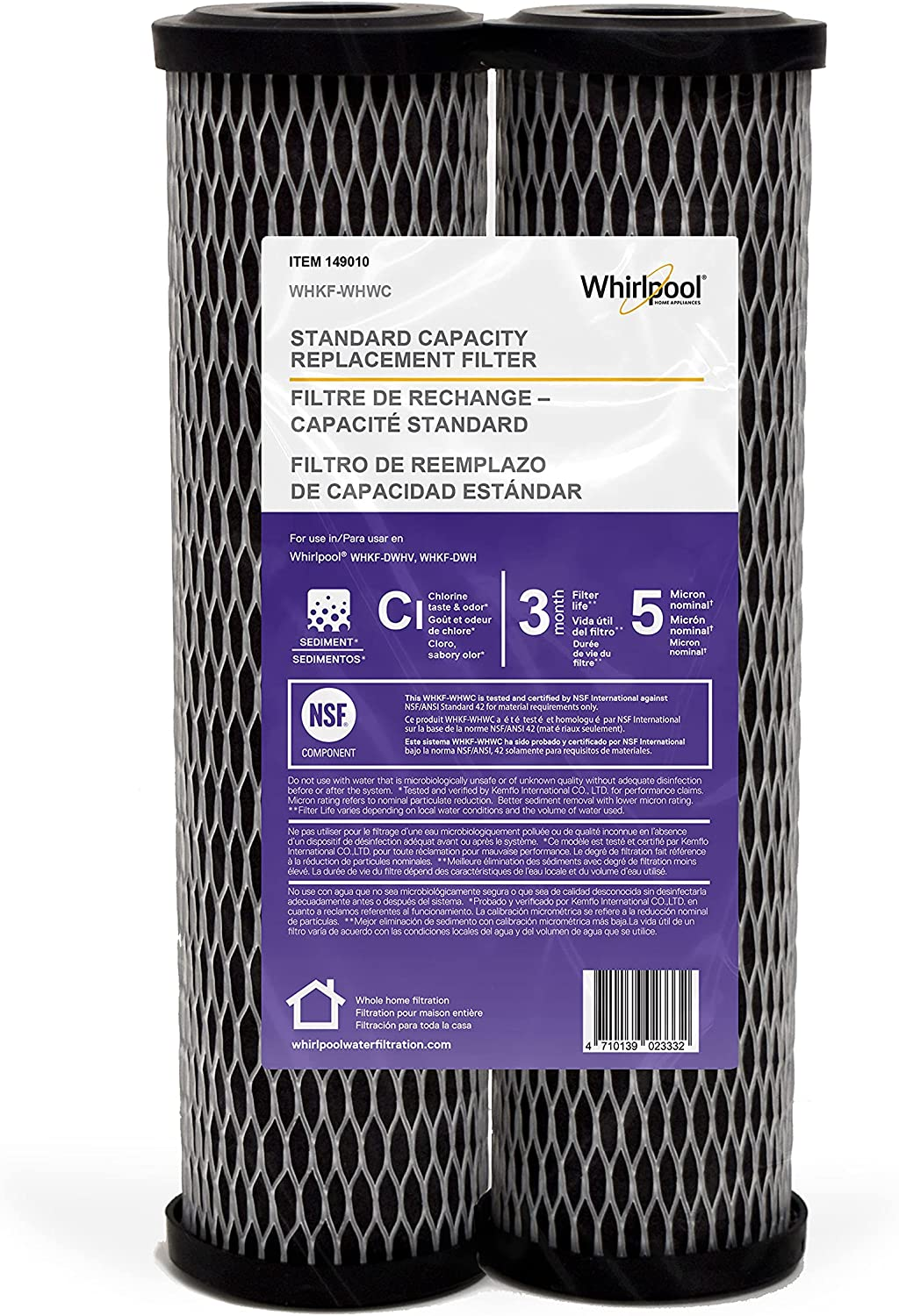Lowest price challenge Whirlpool Whole Home Large Capacity Baltimore Mall Carbon Standard Filters #WHK