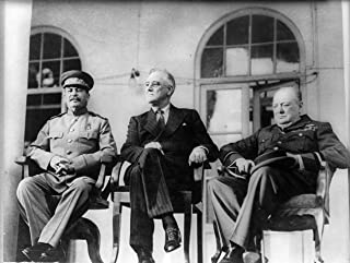 Joseph Stalin Franklin D. Roosevelt Winston Churchill Photo Art Tehran Conference WWII Photo Artwork 8x10