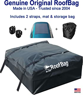 Best RoofBag Rooftop Cargo Carrier, Made in USA, 15 Cubic Feet. Waterproof Car Top Carriers for Cars with Racks or Without Racks Include Roof Protective Mat, Storage Bag and Straps Reviews