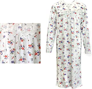 Zmart 100% Cotton Women Nightie Night Gown Pajamas Pyjamas Winter Sleepwear PJs Dress