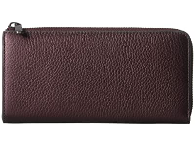 ECCO SP 3 Large Zip Around Wallet (Fig Metallic) Wallet Handbags