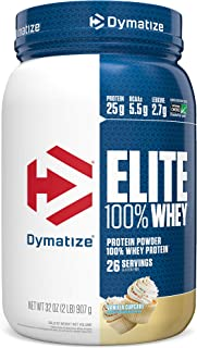 Dymatize Elite 100% Whey Protein Powder, Take Pre Workout or Post Workout, Quick Absorbing & Fast Digesting, Vanilla Cupcake, 2 Pound