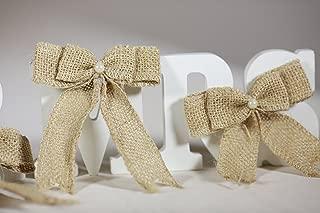 Handmade Burlap Bows Decoration Craft DIY (Pack of 30) (Style #1)