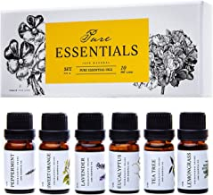 Essential Oils by Pure Essentials 100% Pure Therapeutic Grade Oils kit- Top 6 Aromatherapy Oils Gift Set-6 Pack, 10ML(Euca...