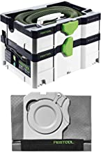 Festool 575280 CT SYS Mobile Dust Extractor (2018 Model) w/Festool 500642 Longlife Filter Bag for CT-SYS