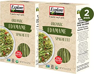 Explore Cuisine Organic Edamame Spaghetti (2 Pack) - 8 oz - Easy to Make Gluten-Free Pasta - High in Plant-Based Protein -...