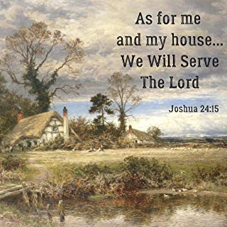 Jolly Jon Double Sided Religious Garden Flag - As for Me and My House - We Will Serve The Lord - Inspirational Bible Verse Joshua 24:15 - Decorative Outdoor Christian Faith Flags - Yard Decor
