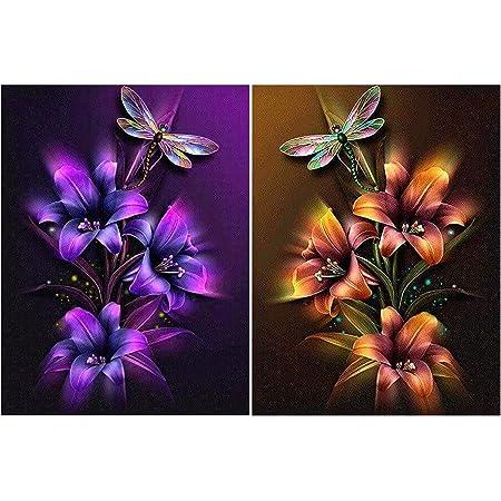 Malen-nach-Zahlen-Set 25,4 x 30,5 cm f/ür Erwachsene HaiMay 5D-Diamant-Gem/älde-Set zum Selbermachen 4 verschiedene Arten der Liebe 4 St/ück