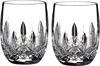 Waterford Connoisseur Collection 40003434 Rounded, Lead Crystal, 7 Fluid_Ounces, Lismore Tumbler Rnd 7oz Pair
