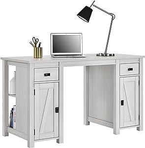 Ameriwood Home Farmington Craft Table, Ivory Pine