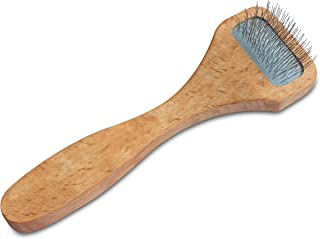 Mars Professional Tangle and Dematting Undercoat Cat and Dog Slicker Grooming Brush, Stainless Steel Pins, Made in Germany