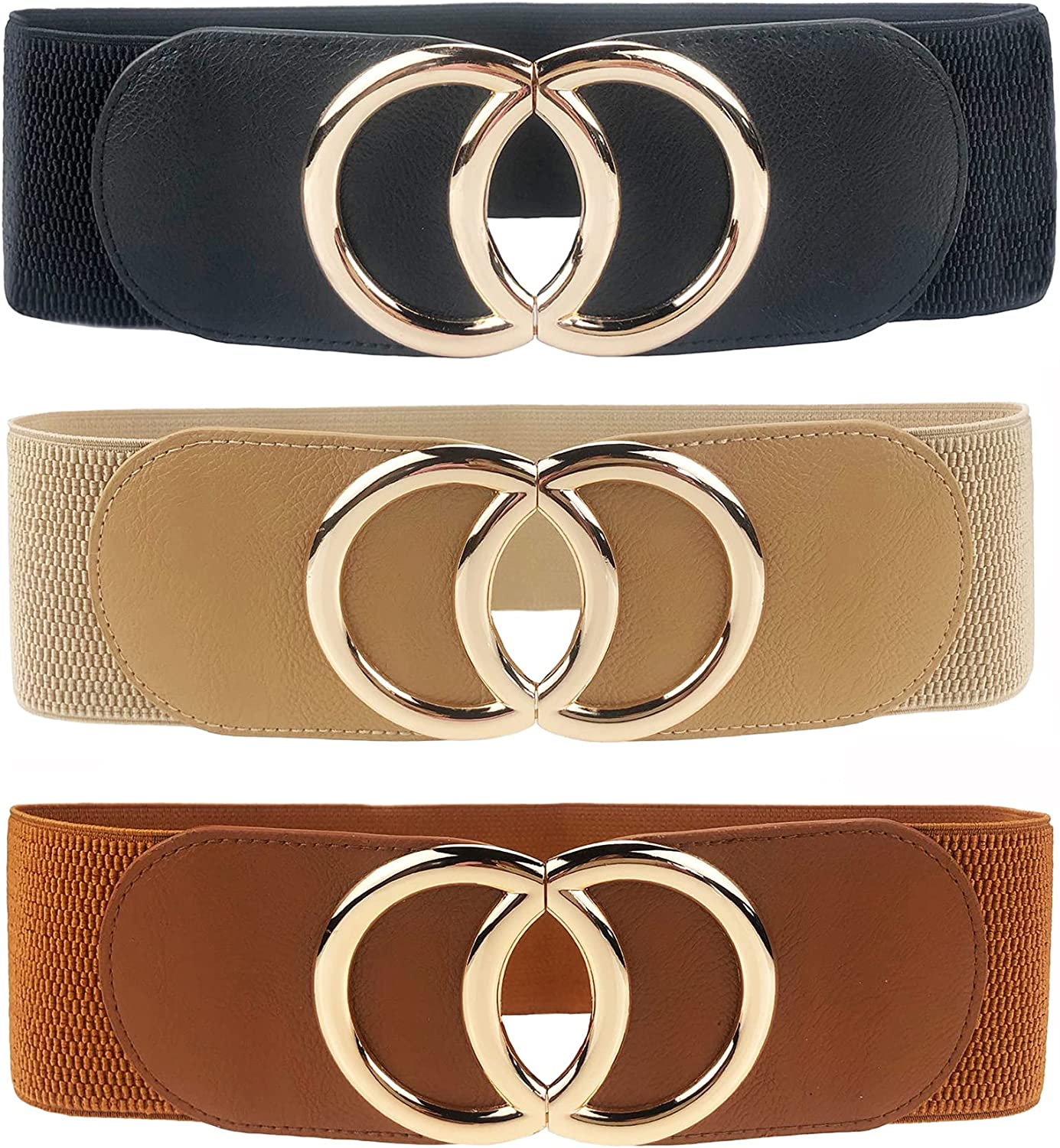 Swtddy Women's OFFer Elastic Recommended Wide Stretchy Cinch Waist Waistband Belt