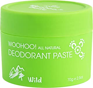 Woohoo! Body All-Natural Deodorant Paste (Wild, 2.5 oz Jar)