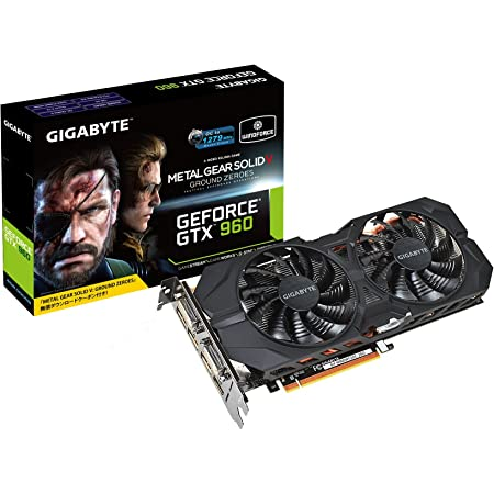GIGABYTE ビデオカード Geforce GTX960搭載 『メタルギア ソリッド V グラウンド・ゼロズ』バンドルモデル GV-N960WF2OC-2GD-GA