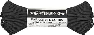 Black 550LB Military 100% Nylon Parachute Cord 100 Feet