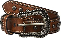 Embossed Belt w/ Heart Conchos (Little Kids/Big Kids)