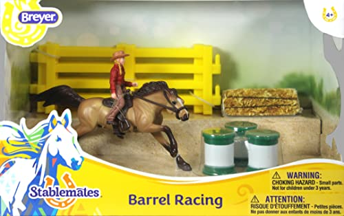 Breyer Stablemates Barrel Racing Pferd und Cowgirl Spielset