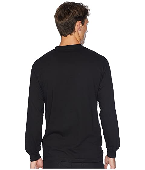manga Classic negra camiseta larga Vans Checks de Rw8qx