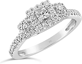 Best square diamond rings engagement Reviews