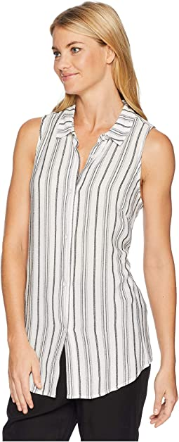 Back Lace-Up Button Down Tank Top