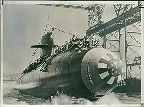 Vintage photo of The Theodore Roosevelt Atomic Powered Submarine