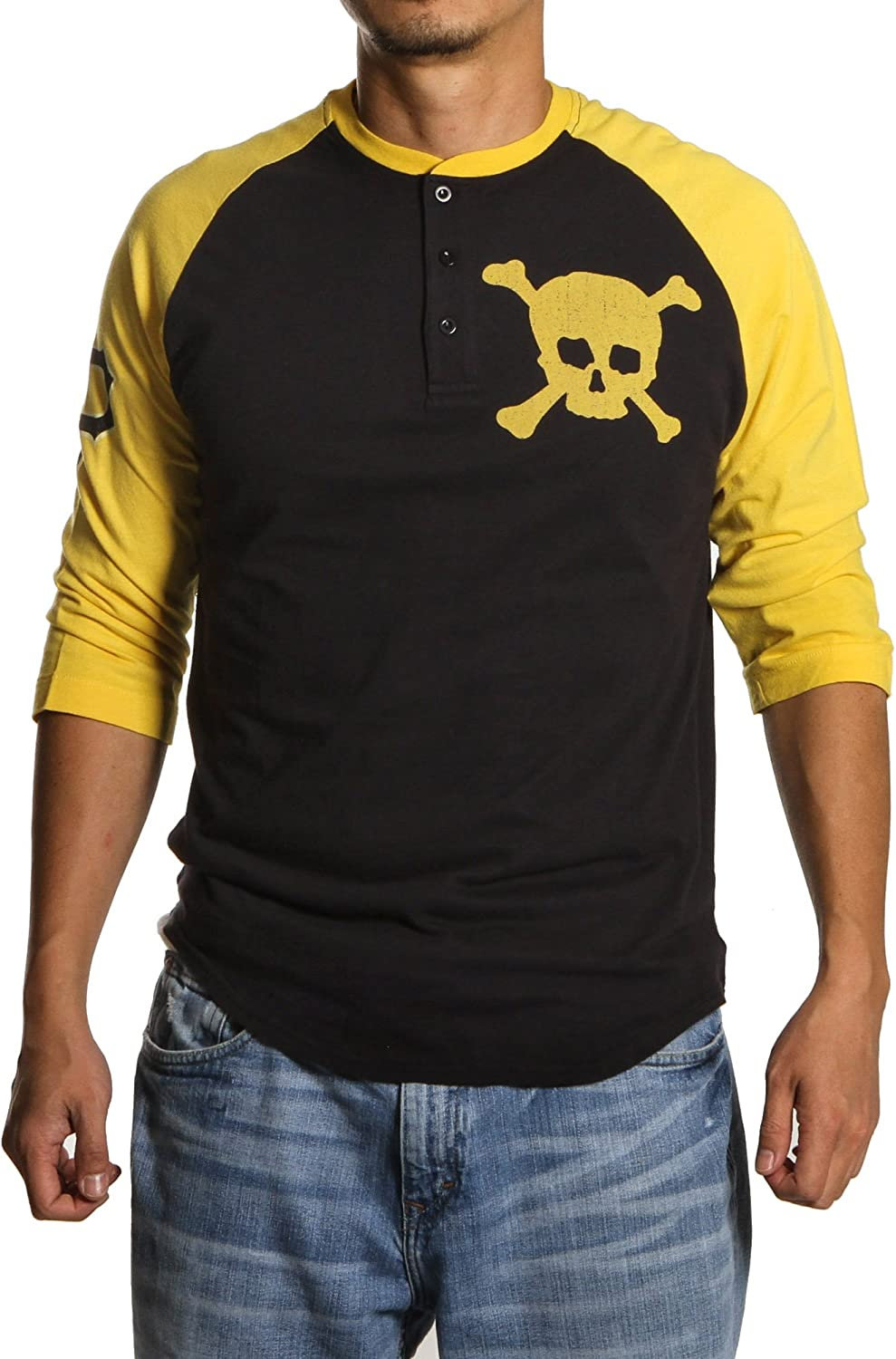 Wright & Ditson Pittsburgh Pirates Sliders 3 Button Henley