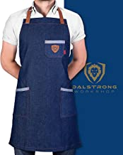 DALSTRONG Professional Chef's Kitchen Apron -American Legend - 100% Cotton Blue Denim - 4 Storage Pockets - Liquid Repelle...