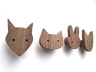 Portachiavi Casina Scandi Love in legno con 6 ganci 21X6X30 cm colori assortiti