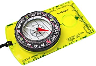 TurnOnSport Orienteering Compass - Hiking Backpacking Compass - Advanced Scout Compass for Camping and Navigation - Boy Sc...