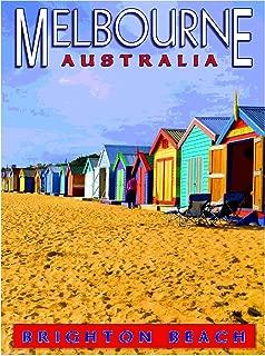 A SLICE IN TIME Melbourne Brighton Beach Australian Australia Travel Advertisement Art Poster Print. Measures 10 x 13.5 inches