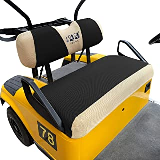 10L0L Golf Cart Bench Seat Cover Set, Washable Polyester Mesh Cloth Fits EZGO RXV TXT