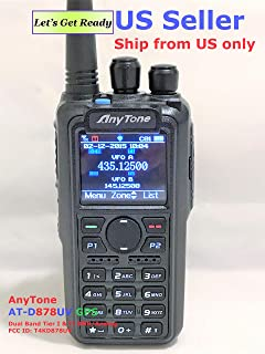 AnyTone AT-D878UV GPS Non-Bluetooth Version and 2 Free Items! Updated firmware Upgraded 3100mAh Battery Dual Band DMR/Analog 144 & 480 MHz Radio