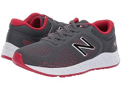 New Balance Kids YAARIv2 (Little Kid/Big Kid) (Gunmetal/Energy Red) Boys Shoes