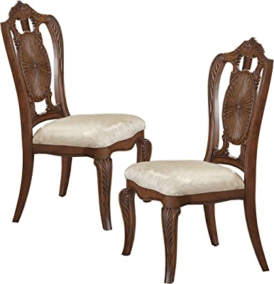 Homelegance Norhill Dining Side Chair (Set of 2), Pecan