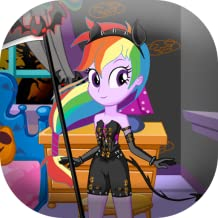 Dress up pony on halloween