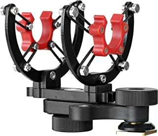 Movo SMM300 PRO Microphone Shock Mount with 8-Point Silicone Suspension System for Rode, Azden, Audio-Technica, Sennheiser, Other 18-22mm Diameter Shotgun Microphones