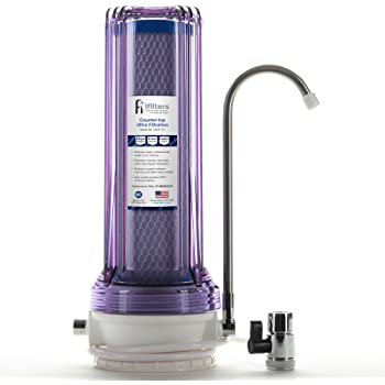 Countertop Ultra Drinking Water Filter for VOCs Cysts Pesticides Herbicides Chlorine Taste & Odor - Clear