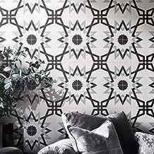Moroccan Mosaic & Tile House CTP70-01 Merzoga Handmade Cement Tile, 8''X8'', Gray/White/Black