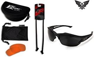 Edge Eyewear Acid Gambit 2 Lens Kit, Matte Black Frame/Tiger's Eye Vapor Shield, G-15 Vapor Shield Lenses