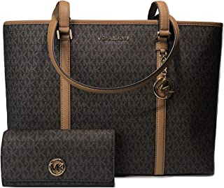 010c38d0991f03 MICHAEL Michael Kors Sady Large MF TZ Tote bundled with Michael Kors Fulton  Flap Continental Wallet