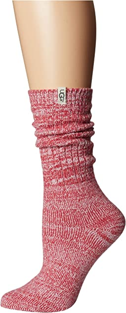 Rib Knit Slouchy Crew Socks