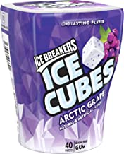 Ice Breakers Ice Cubes Sugar Free Gum with Xylitol, Arctic Grape, 40 Piece