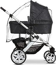 ABC Design Universal Regenschutz – für Kinderwagen mit Babywanne & Sportsitz – Schadstofffrei – Farbe: transparent