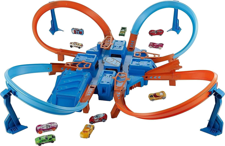 Hot Wheels Criss cheap Cross Crash Motorized C Set Track 4 High Speed Discount mail order