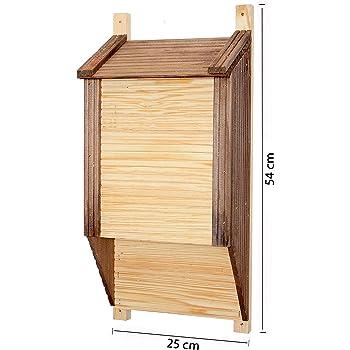 Casetta per uccelli a forma di pipistrello, in legno naturale, 250 x 540 cm