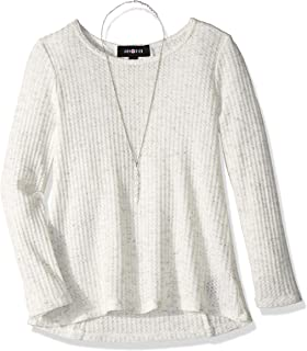 Girls' Long Sleeve Top with Lace-up Back Detail